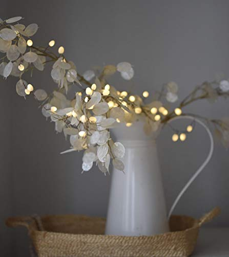 Teardrop LED String Light Battery Powered (Opaque/White)