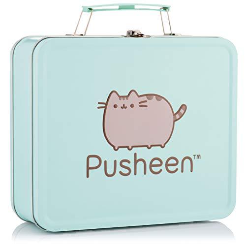 Multi-purpose Pusheen the Cat Metal Lunch Box - Mint Green.