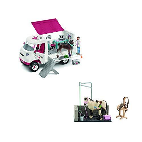 SCHLEICH - Waschplatz + Mobile Tierärztin
