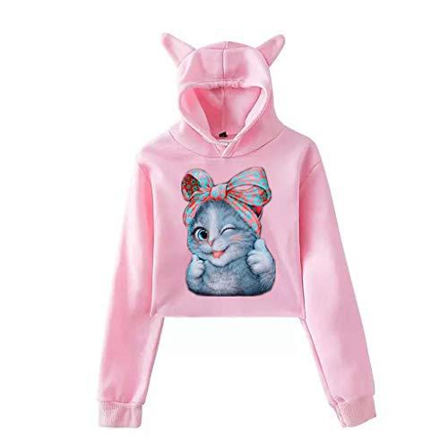 Hoodies Imprimé De USA Sweat à Capuche Femmes, Printemps Automne Hiver Sweat-Shirt Manteau Veste Modern Et Casual