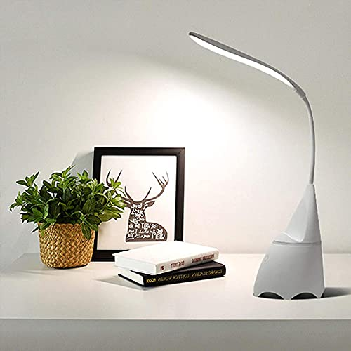 SpiceRack Lámpara de Mesa para Dormitorio, lámparas de Mesa LED Regulables con Altavoz Bluetooth, lámparas de Escritorio, Control táctil Creativo, Cuello de Cisne de 360 °, lámpara de Mesa