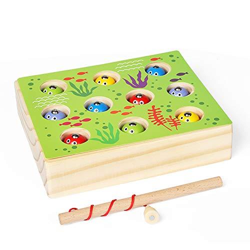 Jouets de pêche magnétiques pour enfants de style minimaliste moderne piscine jouets détachables carte/imperméable à l'eau étanche à l'humidité jouets en bois Jouets éducatifs magnétiques pour enfan
