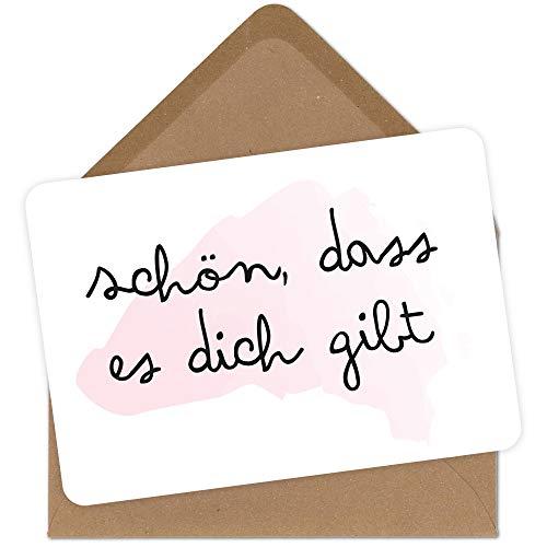 Grusskarte mit Umschlag schön dass es dich gibt Glückwunsch-Karte zum Jahrestag Geburtstag Mann Frau