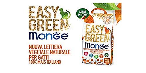 lettiera VEGETALE MONGE Easy Green Mais Gatto Gatti furetti rettili Cat 10 Litri biodegradabile WC 2/3/6 Sacchi SPEDIZIONE Gratuita (3 Sacchi)