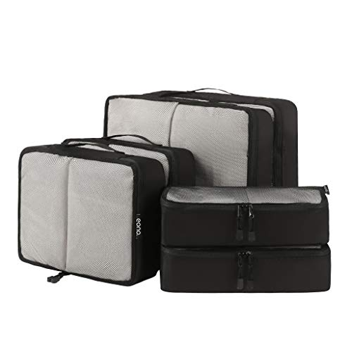 Eono by Amazon - Packing Cubes Travel Luggage Organizers Suitcase Organizer Packing Organizers, 6 Set (2L+2M+2Slim), Net