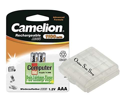 2X Camelion AAA Akkus Micro 1100mAh ohne Memoryeffekt für Telefon Telefone Telekom Speedphone 10 100 500 11 31 51 +OSS Akkubox