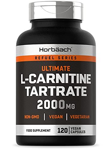 L-Carnitine 2000mg | 120 Vegan Capsules | High Strength | Non-GMO, Gluten Free Supplement