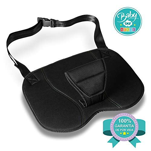 BABY HEROE - Cinturón de seguridad embarazada. Cinturón de uso obligatorio durante el embarazo, ajustable a cualquier asiento y coche