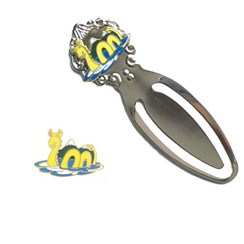 Smartbadge® Scotland Loch Ness Monster Emaille Badge & Loch Ness Monster Lesezeichen T254