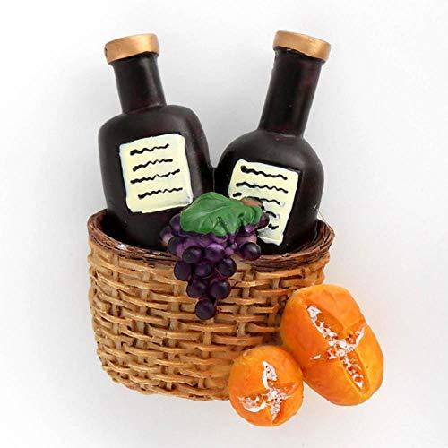 Lyt Magnetic koelkast stick Mozaïek sap kopje melk koffie kopje oranje sap fles rode wijn mand koelkast magneten koelkast