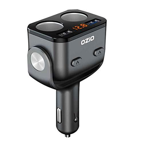 Flnfdsm Coche Inversor De La Energía 90W USB DC 12V A 220V AC Adaptador Convertidor De Teléfono Portátil Cargador De Mechero De Coche,Negro