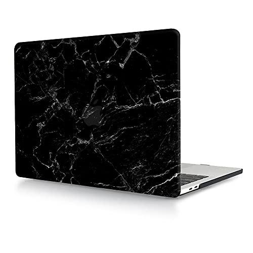 Funda Compatible con MacBook Air 13 Pulgadas (Versión: 2010-2017, Modelo: A1466 / A1369), Plástico Dura Carcasa Case Rígida Cubierta para MacBook Air 13.3 Pulgada - Mármol Negro