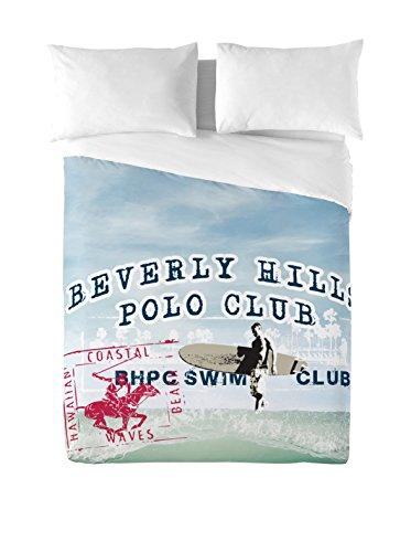 Beverly Hills Polo Club Juego De Funda Nórdica Hawaii 2 Azul Cama 150 (240 x 220 cm + 2/50 x 90 cm)