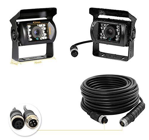 Camecho 12 V-24 V 4 Pins 18 LED IR Visión Nocturna Impermeable Cámara De Visión Trasera + 10 m cable de 4 pines para coche/Bus/Camión/remolques/caravana/autocaravana/Heavy Reverse