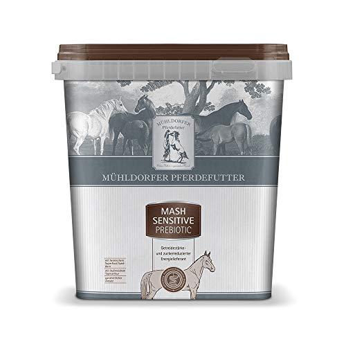 Mühldorfer Mash Sensitive prebiotic, 3 kg, getreidestärke- und zuckerreduziertes Pferdefutter, zur Auffütterung magerer oder schwerfuttriger Pferde