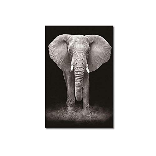 Quadri Dipinti a Mano Dipinti ad Olio Immagini su Tela con Animali Pittura su Tela Arte in Bianco e Nero Poster da Parete complementi arredo casa Stam