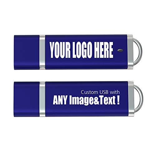 Chiavetta USB Personalizzata 32GB con il tuo Logo, Testo Penna USB Promozionali 25 Pezzi Blu Navy