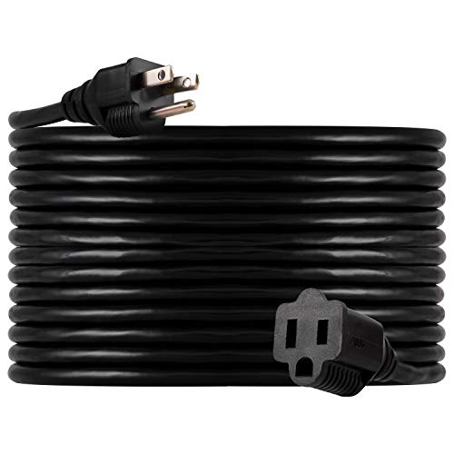 UltraPro GE 40 ft Extension Cord, Heavy Duty, Indoor/Outdoor, Grounded, Double Insulated Cord, UL Listed, Black, 36826