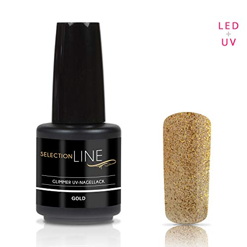 Selection Line Glimmer Vernis à ongles Or 15 ml UV Premium Gel Nail Polish 7ml Nail Art