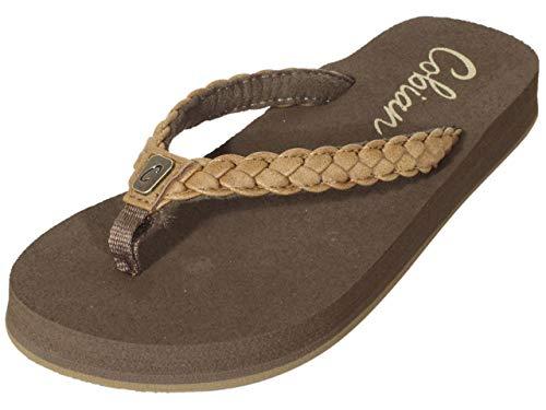Cobian Women's Heavenly Tan Flip Flops, 10