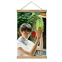 現代絵画キャンバス絵画 西野七瀬 ポスター壁アート画像リビングルームベッドルーム現代家の装飾木製フレーム34 * 52cm