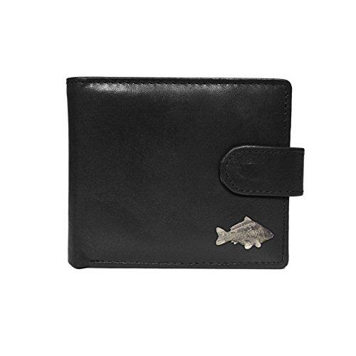 Quality Black Leather carp Wallet