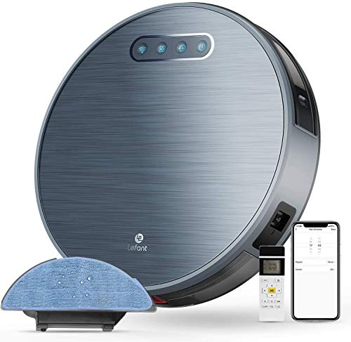 Lefant Robot Vacuum and Mop, Sweeping & Mopping Robot Vacuum Cleaner with 2200Pa Suction,180 Mins Runtime, Works with Alexa, Self-Charging, Ideal for Pet Hair, Floor and Carpets(M571)
