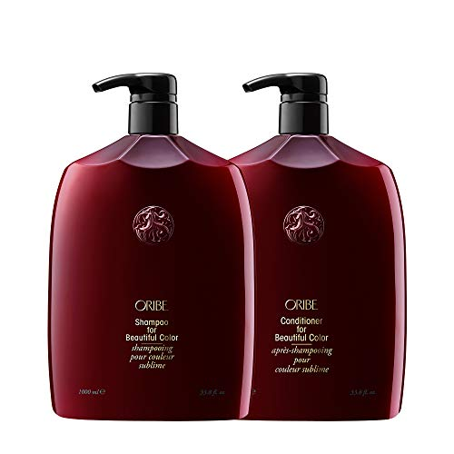 Oribe Shampoo and Conditioner for Beatiful Color Liter Bundle