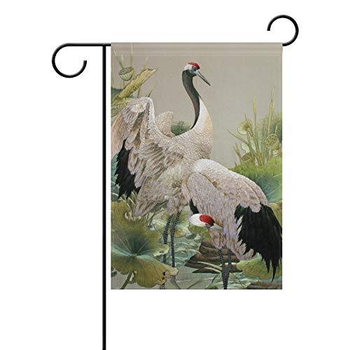 HEOEH Drapeau Japonais pour la Maison, Le Jardin, la Cour, Le Drapeau décoratif Double Face 30,5 x 45,7 cm 28x40(in) Multicolore