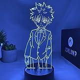JoyLamp Killua / Kirua Zoldik de Hunter x Hunter - Collection officielle JoyLamp x Hunter x Hunter - 16 couleurs + Télécommande - Lampe 3D HxH
