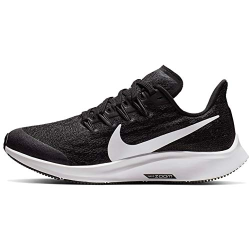 Nike Unisex Adults Air Zoom Pegasus 36 (gs) Track & Field Shoes, Multicolour (Black/White/Thunder Grey 1), 6 UK