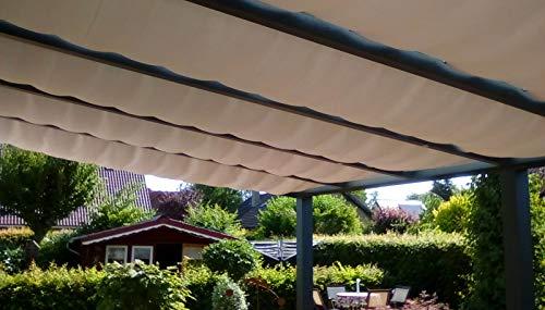 Götz Gardinen Maß-Konfektion Beschattungssystem Terrassen Beschattung Wintergarten Seilspannmarkise STOFFMUSTER Maßanfertigung XXL individuell exklusiv