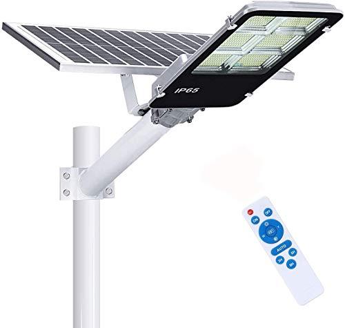 Farola Solar LED 360W para Exteriores, IP65 Impermeable Lámpara de Seguridad con Control Remoto, 21000lm Iluminación Exterior Farolas, 6500K Blanca Fría