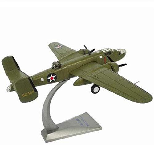 ZWJWJ Escultura Bombardero de aleación a Escala 1/72 B-25 Aviones Mitchell de la Fuerza Aérea B25 Aviones de Combate Modelo de Juguete Regalo para niños colección para niños