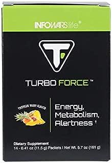 Infowars Life - Turbo Force (14 Servings) - Healthy, Natural Energy Drink Alternative