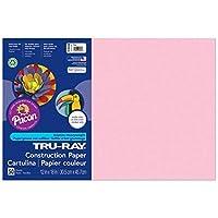 Tru-Ray PAC103044BN Construction Paper Pink 12 x 18 50 Sheets per Pack 5 Packs [並行輸入品]