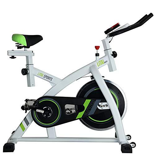 Professionelles Indoor Cycling mit Armlehne, 32 kg Schwungrad, pulsgurtkompatiblem Speedbike, Ergometer bis 200 kg Ultra-leises Spinning Training Exercise Bike,WHITEq1