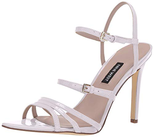 NINE WEST Womens Gilficco Strappy Sandals White 11 M
