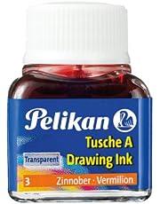 Pelikan A523 tusz A, 10 ml, czerwony cynobrowy