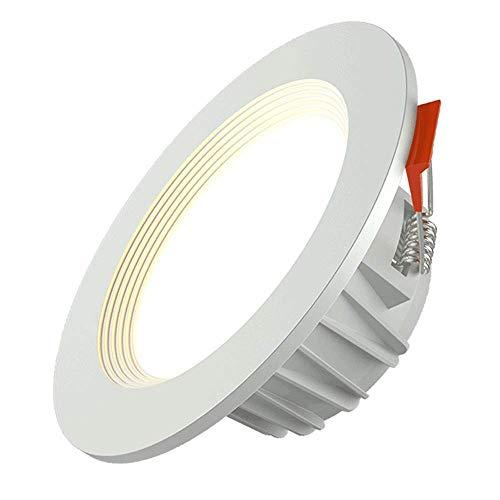 Luz de trabajo 3/5/7 / 9/15/18 / 24W Aleación de aluminio incrustado Downlight de alto brillo Luz de techo DIRIGIÓ Decoración redonda Prevención de rasguños Panel de techo Lunk Hogar comercial Empotra