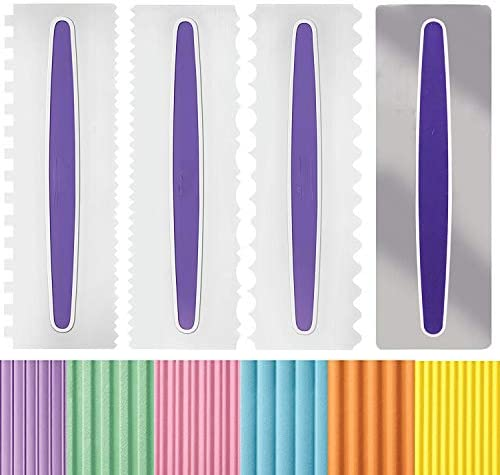 4 Pcs Cake Scrapers Messar Cake Decorating Combs Icing Smoothers Fondant Spatulas Cake Edge product image