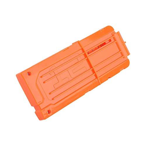 AYNEFY Cargador con clip para 12 dardos de espuma, revista Bullet, revista blanda, pistola de juguete, accesorios, color naranja