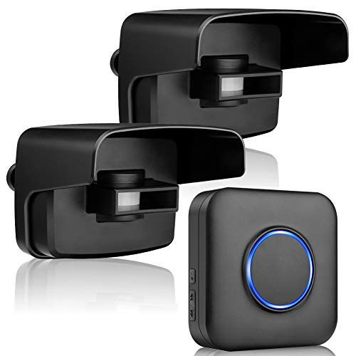 BITIWEND Sensore Wireless, Rilevatore di movimento per strada con raggio d azione di 150 m, Sensore di movimento ed Allarme, Rilevatore di movimento impermeabile e rilevatore per casa, cortile, garage