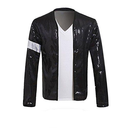 Himart MJ Billie Jean Jacket Cosplay Costume (Medium) Black