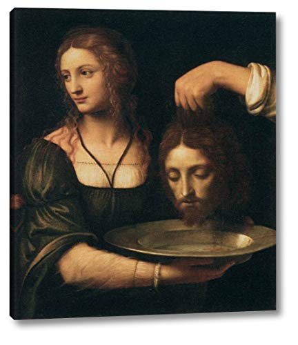 "Salome Receiving The Head of St John The Baptist by Bernardino Luini - 17"" x 20"" Gallery Wrap Canvas Art Print - Ready to Hang"