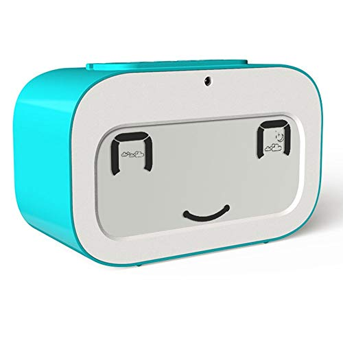 RXM LED Alarm Klok Dynamische Emoji Multifunctionele Elektronische Snooze Smart Backlight Desktop Digitale Dubbele Wekker/Timer/Thermometer/Datum Reizen Woonkamer Slaapkamer Nachtkastje