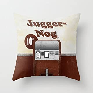 Simple Design Cheap Pillowcase Jugger-nog Throw Pillow