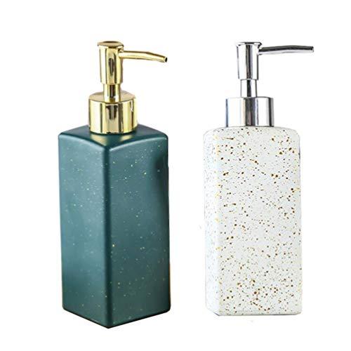 Cabilock 2 Stücke Pumpflasche Reise Nachfüllbar Pumpspender Leer Pumpe Flasche Reinigung Hygiene Flüssigkeiten Pumpseifenspender Grün+Weiß