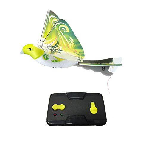 eBird Green Parrot - Creative Child Preferred Choice Award Winning Flying RC Toy - Remote Control Bionic Bird (Newest 2.4GHz Version Featuring USB Charging)