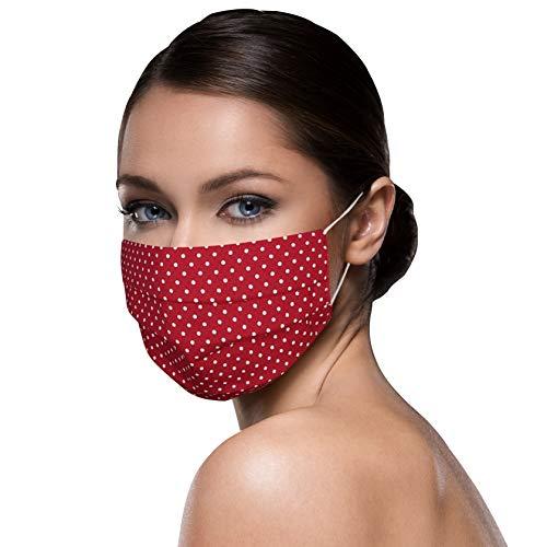 Unisex Stoffmasken Mundschutz Maske Stoff 100% Baumwolle Mund Nasen Schutzmaske mit Motiv...